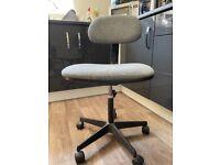 Adjustable, armless office chair