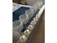 Crystal candle holder table centre pieces