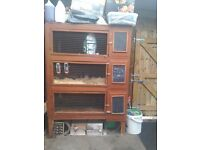 Rabbit small animal 3 storey hutch