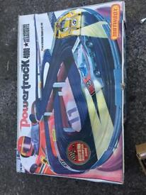 Matchbox powertrack and box of cars