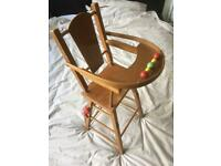 Vintage toy doll high chair - possibly 1960's?