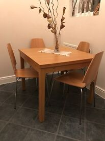 Dining table with 4 chairs for quick sale!!!