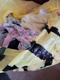 2 free bin bags of girls baby/toddler clothes