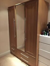 Triple Mirrored Wardrobe £125 o.n.o