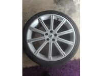 "Range Rover 22"" alloy wheels and tyres"
