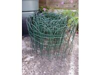 green mesh border fencing x 750mm height from placed in the ground is 30cm