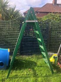 Large wooden step ladder