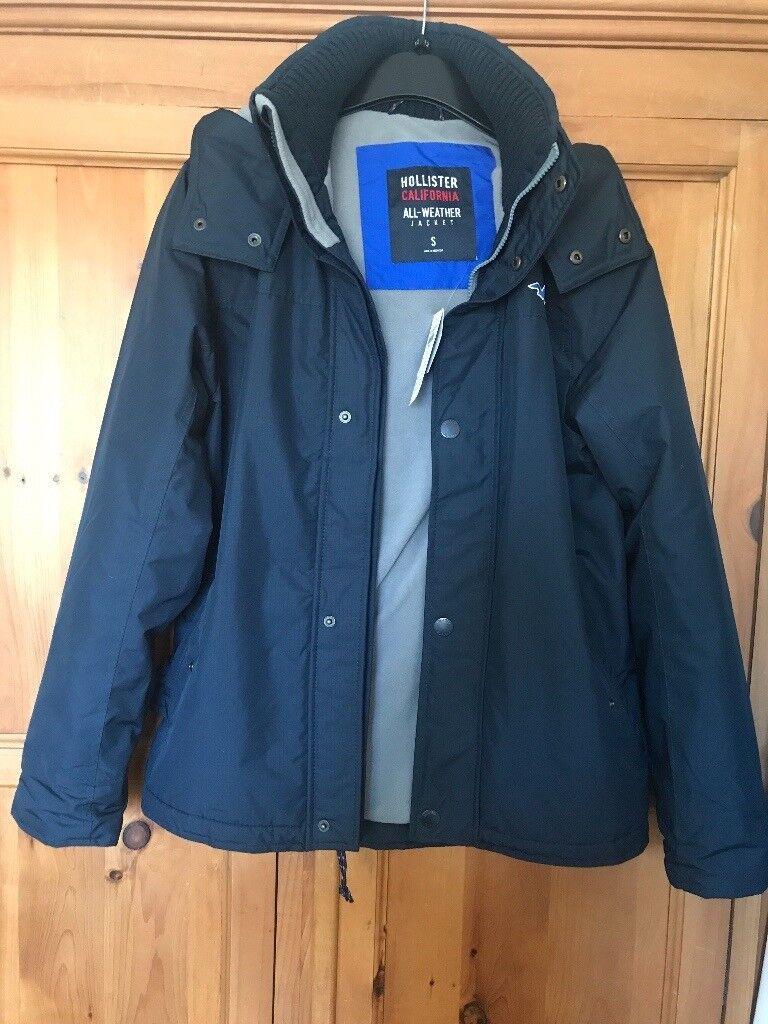 Blue hollister jacket