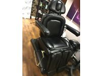 Reclining massage and pedicure chair
