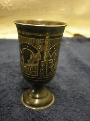 Antique Russian Jewish Kiddush/Kiddish Cup 84 Sterling Silver Judaica