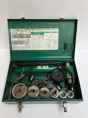 Greenlee 7506 Slug Splitter Hydraulic Knockout Punch Set 12-2 With 767 Pump
