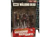 Walking dead 3 pack figure ( Rick, Daryl, michonne ) set