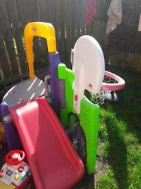 Toys: Play frame+ bouncer zebra + fisher price pot