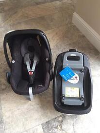 Maxi cosi pebble car seat and family fix car base