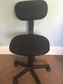 Black Office Chair - Adjustable Height