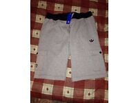 **Brand New With Tags** Adidas Originals Cotton Shorts - Mens - Colour Light Grey - Size XL - £10