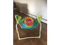 Extending jumperoo, swivel seat, all in working condition.