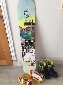 Mafia Snowboard, Bindings and Biots