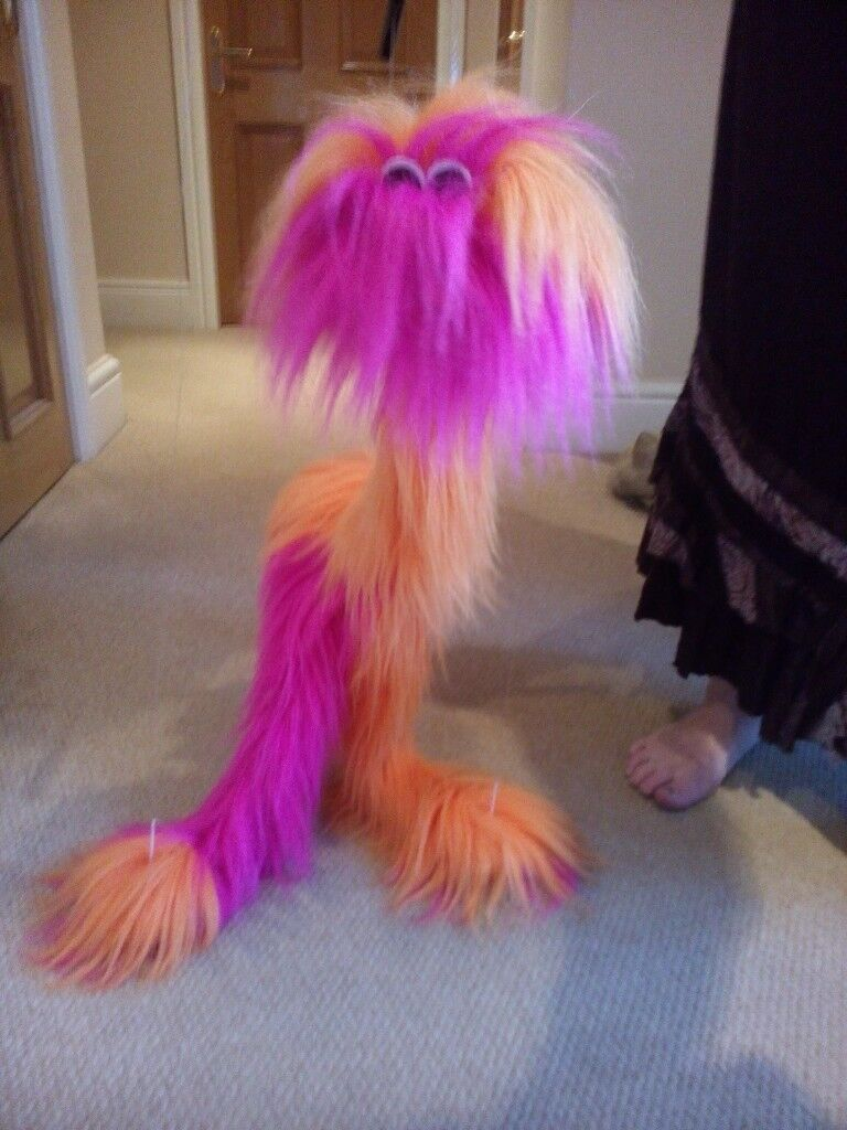 Brand New, Unused, Marionette Friendly Furry Monster String Puppet Toy