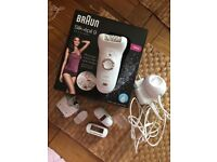 Brand new Braun silk epilator