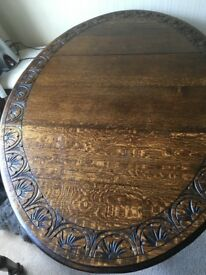 Small old dining table