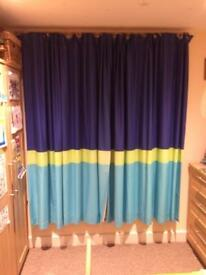 "Kids curtains 90x72"" dunelm mill car collection"