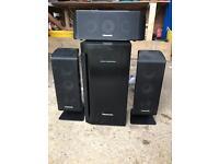 Panasonic Surround Sound Speakers and Sub