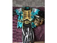 Skeleton pirate costume with 3D chest 9-10years