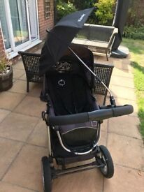 Used icandy apple pram with carry cot and accessories