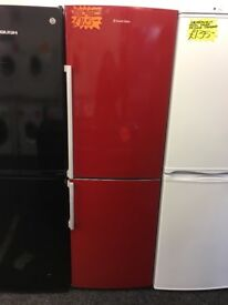 RUSSELL HOBBS FROST FREE FRIDGE FREEZER IN RED
