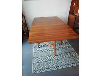 Morris of Glasgow Cumbrae range drop-leaf dining table.