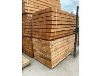 •New• Brown Pressure Treated Wooden Railway Sleepers - 200x100x2.4M