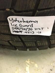 245/45R20 102T Yokohama IceGuard 1g51v Winter tires 10/32nds