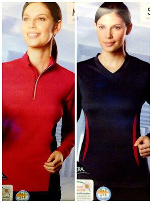 Damen Funktionelles Laufshirt Coolmax LYCRA Fitness Joggen Sport Shirt NEU