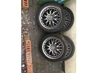 17 inch multi fit alloys for sale