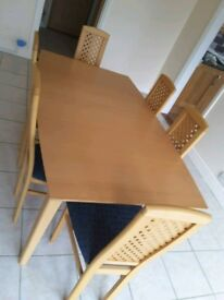 Table and Chairs , pics must be seen. No scratches or marks.