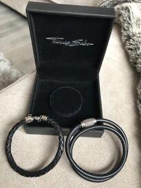 Thomas sabo men's leather bracelets