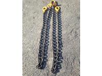 Heavy duty lifting chains, as new condition