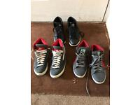 3x pairs of trainers size 5