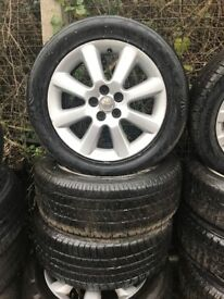 TOYOTA AVENSIS 2007 16 INCH ALLOY WHEELS 5 STUD WITH 205/55R16 TYRES SET OF FOUR