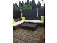 Ratten corner Garden sofa