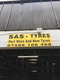 Partly worn tyres in stock today