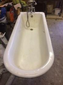 Reclaimed vintage Cast Iron Bath