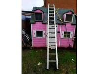 14 rung double extension ladder