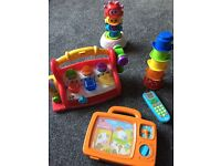 12 18 months toys - fisher price tool bench, build a beat Musical Stacker, ELC