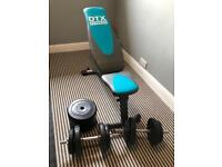 Dumbbells and Folding Weight Bench