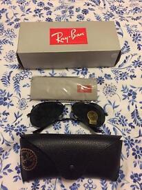 Ray-Ban All Black Aviator Sunglasses New
