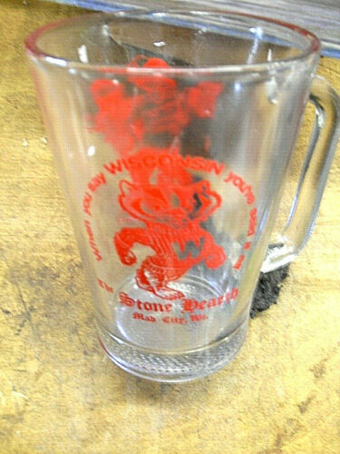"Vintage,  THE STONE HEARTH, MAD CITY, WI.   BEER Pitcher """"  Rare, NICE!"