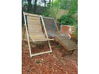 Habitat garden deck chairs