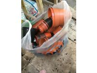 Large bag of plastic plant pots various sizes and seed trays